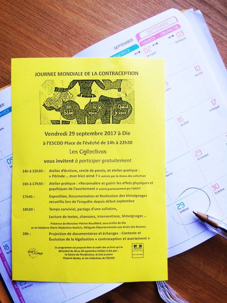 Journée de la contraception 29 septembre 2017 à Die