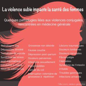 infographie impact sur la santé des violences faites aux femmes